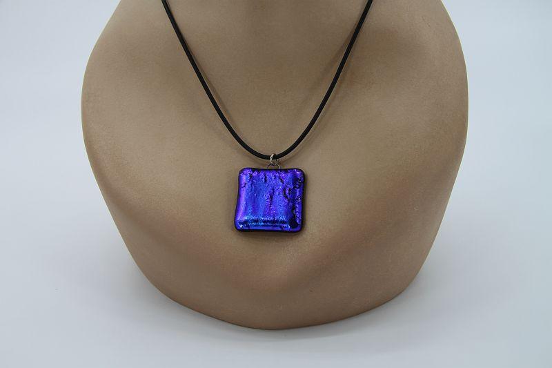 Glasschmuck Glaskette blau 4