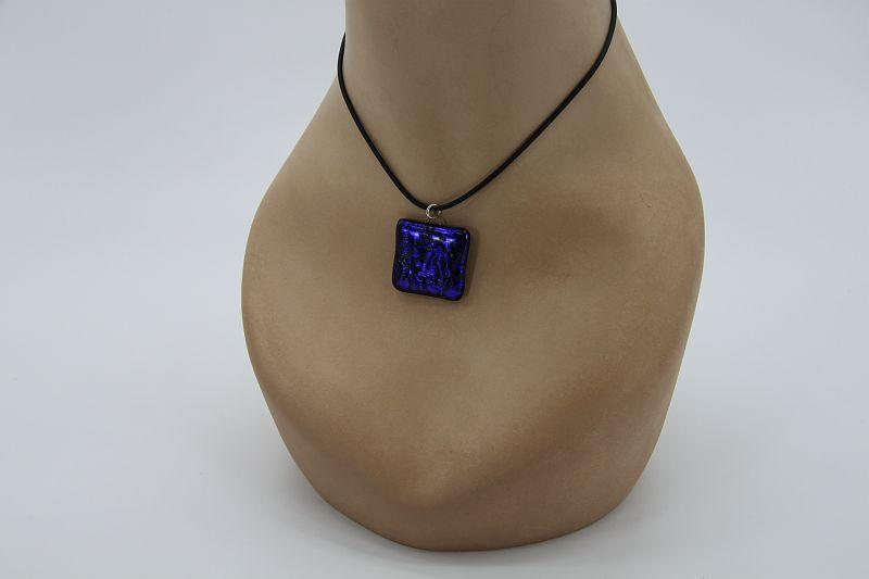 Glasschmuck Glaskette dunkelblau 1