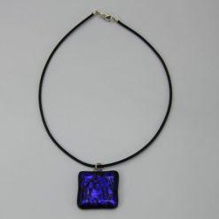 Glasschmuck Glaskette dunkelblau 3