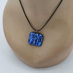 Glasschmuck Glaskette hellblau 1