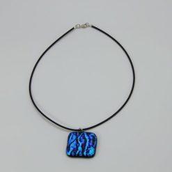 Glasschmuck Glaskette hellblau 4