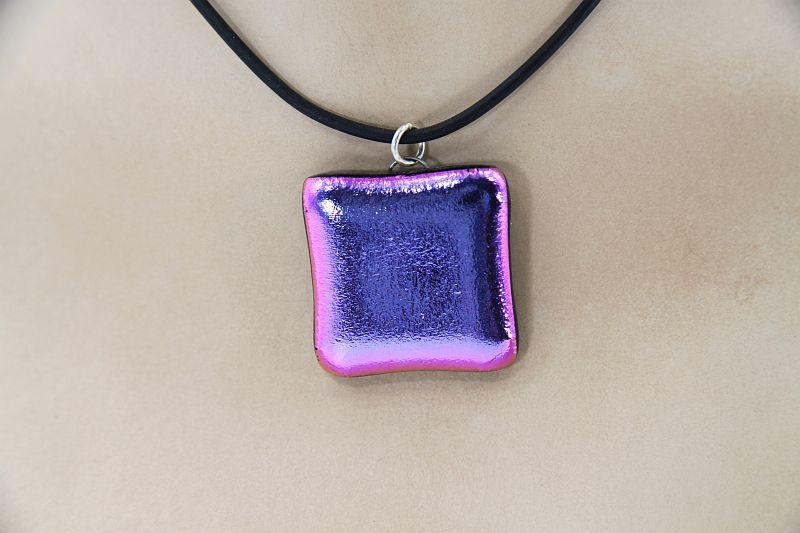 Glasschmuck Glaskette lila 2