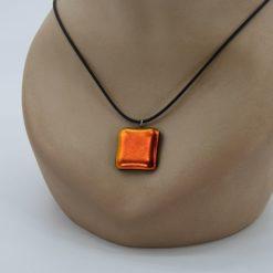 Glasschmuck Glaskette orange 1