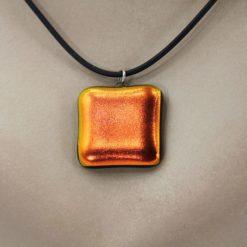 Glasschmuck Glaskette orange 2