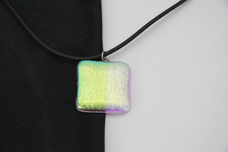 Glasschmuck Glaskette transparent grün 2