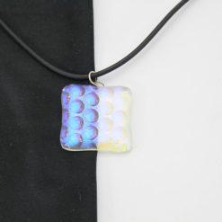 Glasschmuck Glaskette transparent hellblau Noppen 2