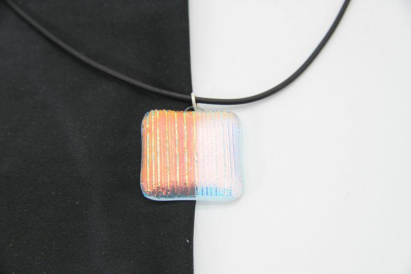 Glasschmuck Glaskette transparent orange 4