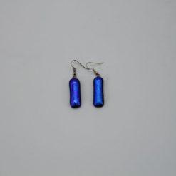Glasschmuck Ohrhänger blau 1