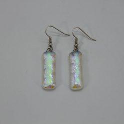 Glasschmuck Ohrhänger transparent blau Noppen 1