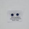 Glasschmuck Ohrstecker blau Metall 1
