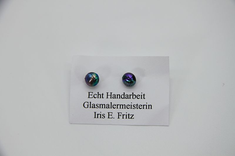 Glasschmuck Ohrstecker bunt 1
