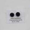 Glasschmuck Ohrstecker dunkelblau Schiller 1
