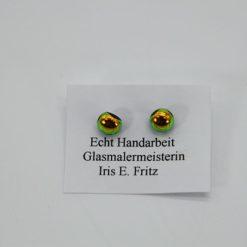 Glasschmuck Ohrstecker gelb 1
