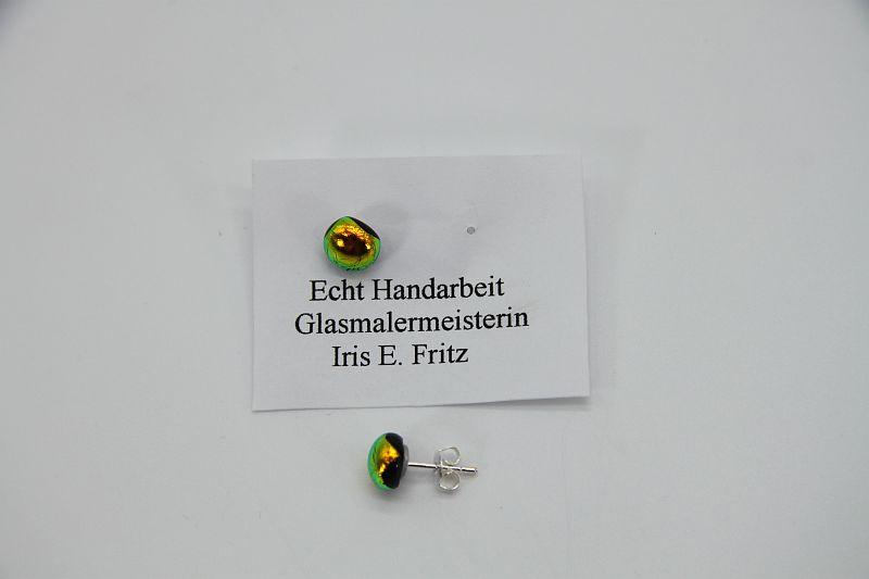 Glasschmuck Ohrstecker gelb 2
