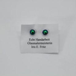 Glasschmuck Ohrstecker grün 1
