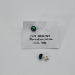 Glasschmuck Ohrstecker grün 2