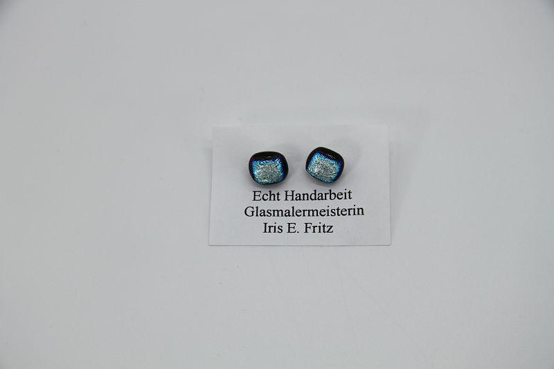 Glasschmuck Ohrstecker silber 1