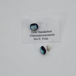 Glasschmuck Ohrstecker silber 2