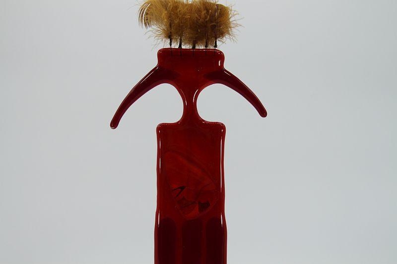 Glasfigur Indianer rot 5