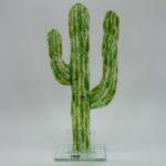 Glasfigur Kaktus grün 1