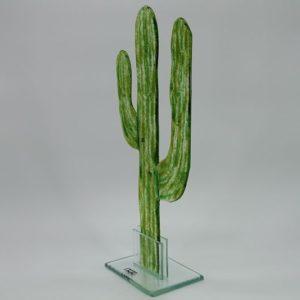 Glasfigur Kaktus grün 2