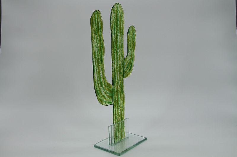 Glasfigur Kaktus grün 3