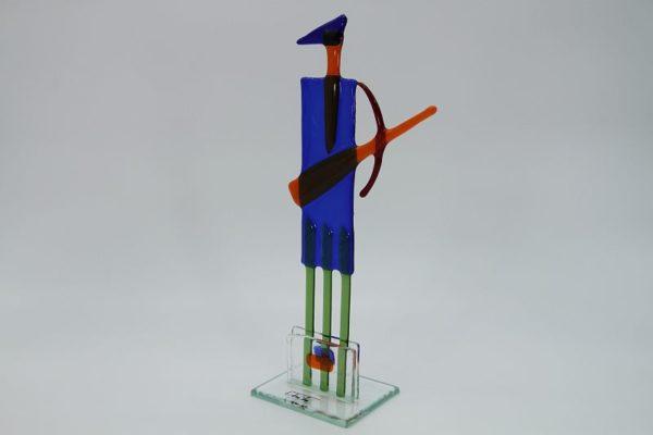 Glasfigur Schütze rot blau 2