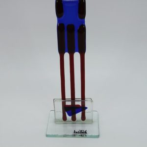 Glasfigur Skorbion rot blau 3