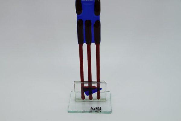 Glasfigur Skorbion rot blau 3