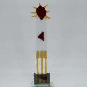 Glasfigur Sonnenkönig weiß rot 1