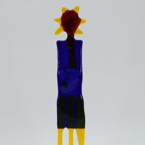 Glasfigur Sonnenkönig rot gelb 2