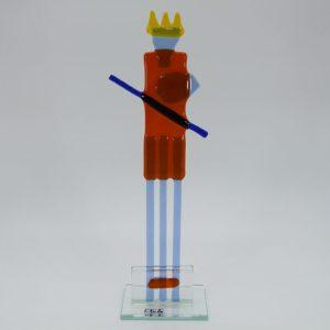 Glasfigur Wassermann rot blau 1
