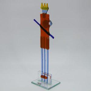 Glasfigur Wassermann rot blau 2