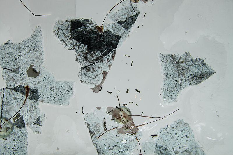 Glasschale eckig Metall 3