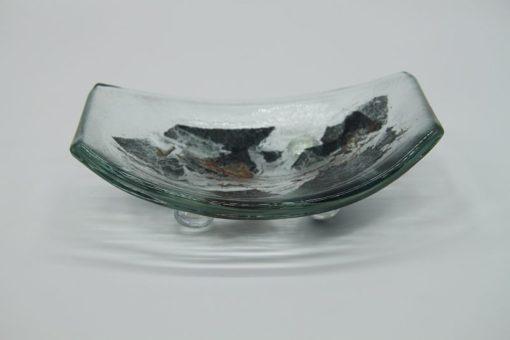 Glasschale klein Metall 1