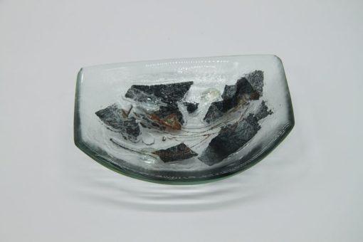 Glasschale klein Metall 2