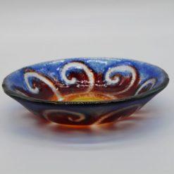 Glasschale klein Sonne gelb-blau 1