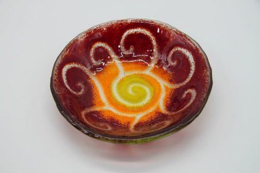 Glasschale klein Sonne gelb-rot 2