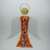 Glasengel Engel groß orange rose 1