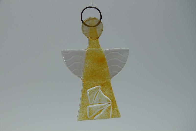 Glasengel Engel klein Kristall gelb 2