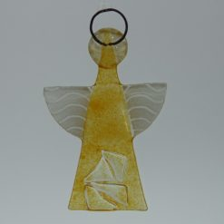 Glasengel Engel klein Kristall gelb 3