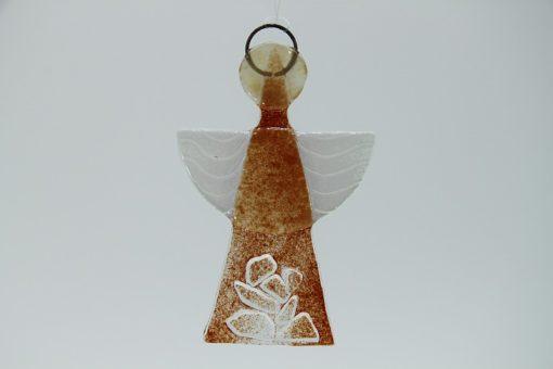 Glasengel Engel klein Kristall rot 1