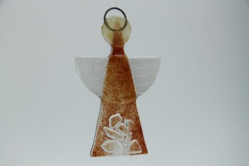 Glasengel Engel klein Kristall rot 2