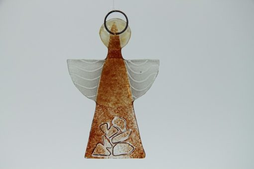 Glasengel Engel klein Kristall rot 3