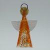 Glasengel Engel klein orange Baum 1