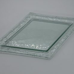 Glasschale Raute transparent 1