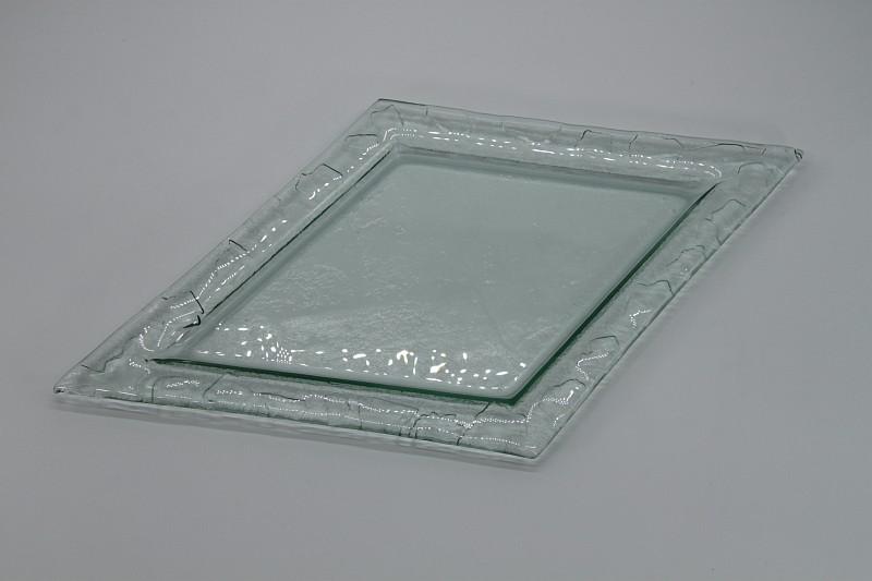 Glasschale Raute transparent 1