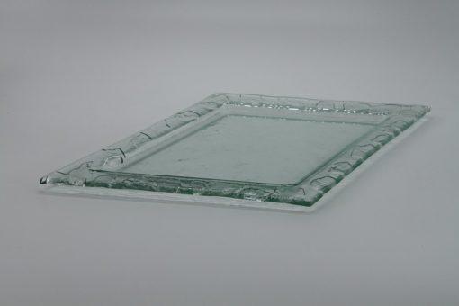 Glasschale Raute transparent 2