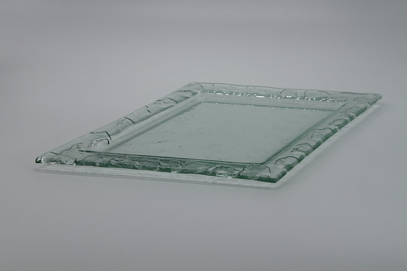 Glasschale Raute transparent 2