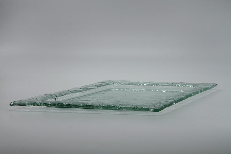 Glasschale Raute transparent 3